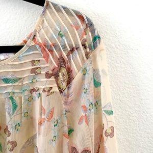 LC Lauren Conrad Sheer Floral Top Sz L